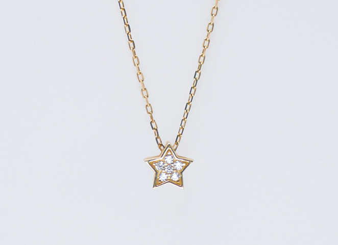 Diamond-studded five-pointed star